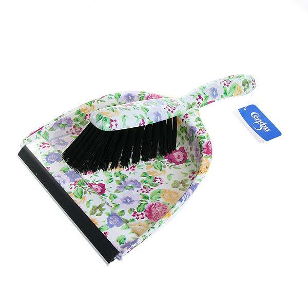 Набор для уборки, щетка-сметка и совок для мусора 33см 272-1 Цветы купить оптом и в розницу
