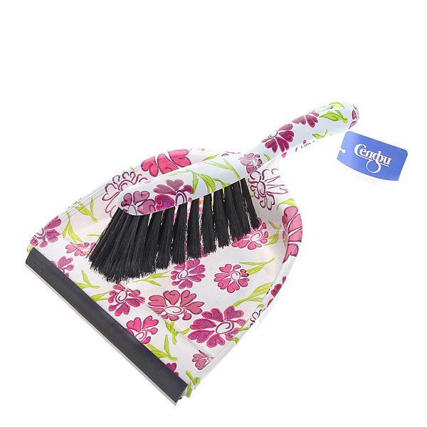 Набор для уборки, щетка-сметка и совок для мусора 33см 272-2 Цветы купить оптом и в розницу