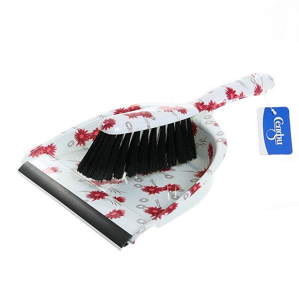Набор для уборки, щетка-сметка и совок для мусора 33см 272-3 Цветы купить оптом и в розницу