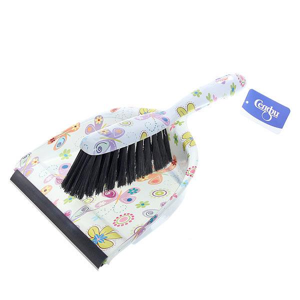 Набор для уборки, щетка-сметка и совок для мусора 33см Бабочки купить оптом и в розницу