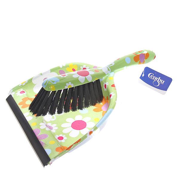 Набор для уборки, щетка-сметка и совок для мусора 33см 272-5 Цветы купить оптом и в розницу