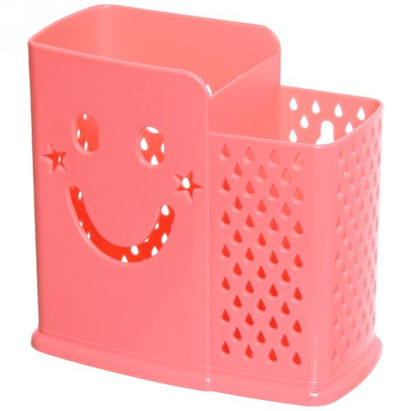 Подставка для столовых приборов 13*14*7см пластиковая, 2 секции купить оптом и в розницу