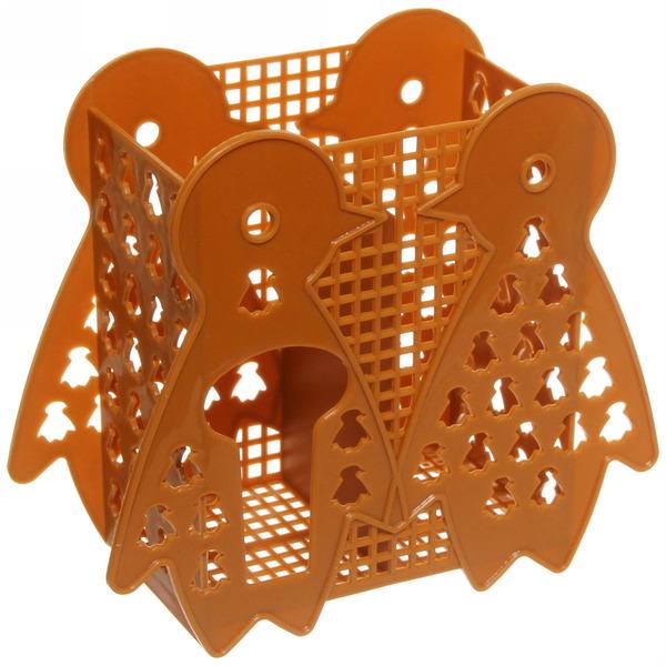 Подставка для столовых приборов 14,5*17*7см пластиковая, 2 секции купить оптом и в розницу