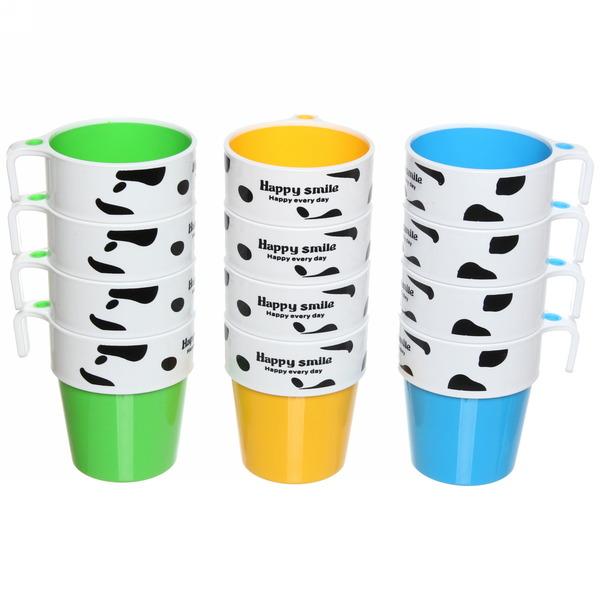Кружка пластиковая 200мл в наборе 4шт купить оптом и в розницу