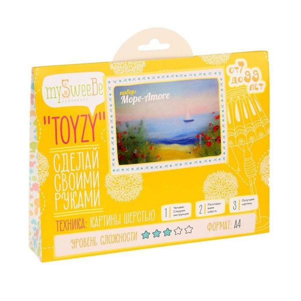 Набор ДТ Картина шерстью Море-Amore А4 TZ-P009 купить оптом и в розницу