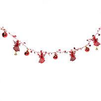 Бусы на ёлку красные 1,5м ″Ангелочки, шарики и звездочки″ купить оптом и в розницу