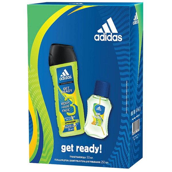 Подарочный набор Adidas мужской ″Get Ready!″ Туалетная вода 50 мл + Гель для душа 250 мл купить оптом и в розницу