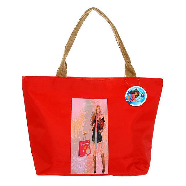 Сумка пляжная ″Модная девушка - шатенка″ 48*32*14 купить оптом и в розницу