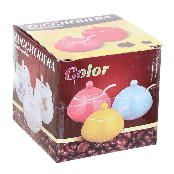 Сахарница керамическая 200 мл ″Яблоко″ розовое купить оптом и в розницу
