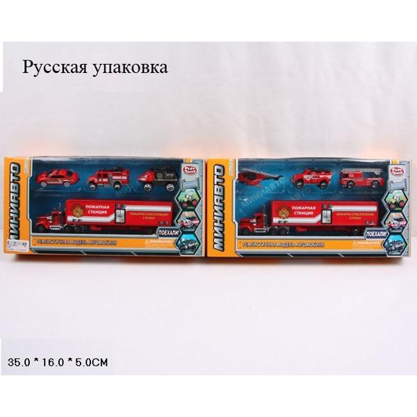 Набор машин 6386-4 Пожарная техника в кор. купить оптом и в розницу