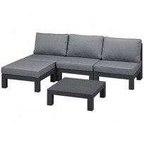 Набор мебели (диван, стол) Nevada, коричневый с подушками Curver-206993 купить оптом и в розницу