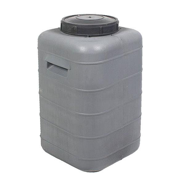 Бочка пластиковая 50л квадратная с крышкой и клапаном купить оптом и в розницу