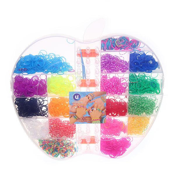 Набор резинок для плетения браслетов 4200шт 17 цветов Яблоко купить оптом и в розницу