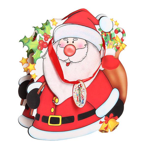 Пакет подарочный 27х24 см ″Дед Мороз с мешком″ резной купить оптом и в розницу