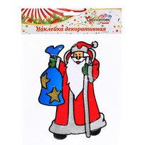 Наклейка на стекло 19*12см ,″Дед Мороз с подарками″ ВА242 купить оптом и в розницу