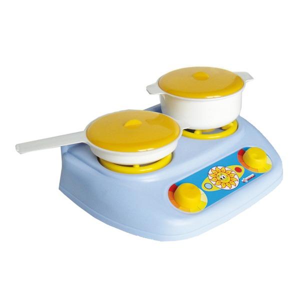 Набор посуды (плита+кастрюля+сковорода) У528 /12/ купить оптом и в розницу