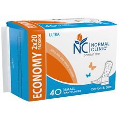 Прокладки ультратонкие ежедневные NORMAL cliniс Promo - cotton & slim- 150 мм, в картон. коробке, без и/у 20шт купить оптом и в розницу