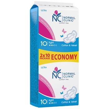 Прокладки женские ультратонкие NORMAL cliniс ″COMFORT″ - cotton & velvet - 3 капли, 240 мм, 20шт купить оптом и в розницу