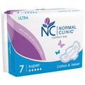 Прокладки женские ультратонкие NORMAL cliniс ″COMFORT″ - cotton & velvet - 5 капель, 280 мм, 7шт купить оптом и в розницу