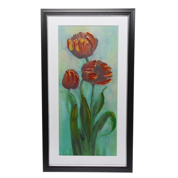 Картина маслом 40*70см объемная ″Тюльпаны″ купить оптом и в розницу