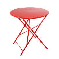 Стол дачный круглый складной (d 70см) металл, JYG-1043, красный купить оптом и в розницу