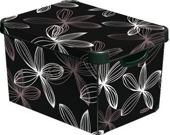 Коробка декоративная STOCKHOLM M Black lily/10 шт (29,5х19,5х13,5)см Curver купить оптом и в розницу