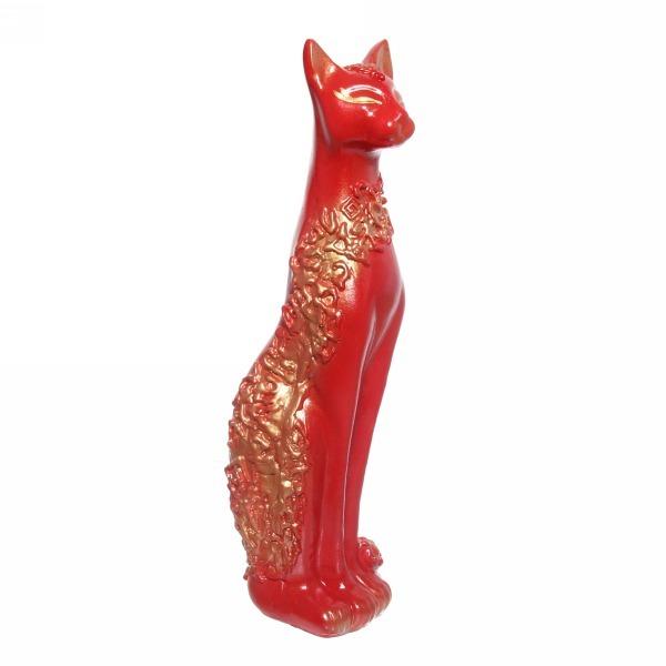 Статуэтка из гипса ″Кошка Сфинкс (красная) ,48см. купить оптом и в розницу