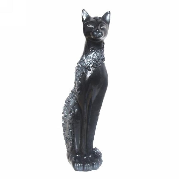 Статуэтка из гипса ″Кошка Сфинкс (черная) ,48 см. купить оптом и в розницу