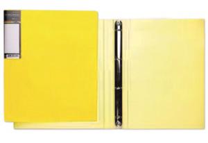 """Папка с 20 вклад.Hatber """"HD"""" Неоново-желтая, 14мм купить оптом и в розницу"""