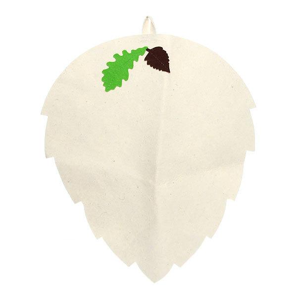 Коврик ″Банный лист″, фетр белый Б4916 купить оптом и в розницу