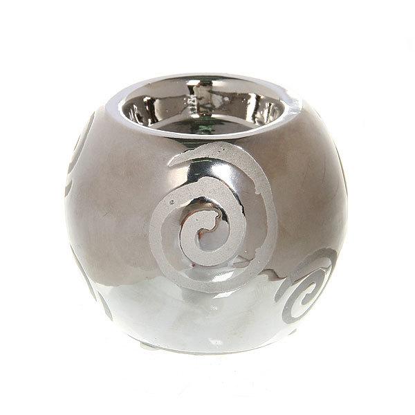 Подсвечник из керамики ″ Шар круги ″ 30005 купить оптом и в розницу