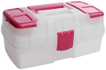 Ящик для хранения мелочей прозрачный розовый *10 купить оптом и в розницу
