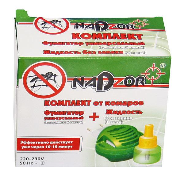 Комплект (электрофумигатор и жидкость) от комаров NADZOR купить оптом и в розницу
