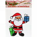 Наклейка на стекло 13*11см,″Дед Мороз с подарком″ A-011 купить оптом и в розницу