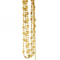 Бусы на ёлку золото 1,5м ″Доллары″ 1,2см купить оптом и в розницу