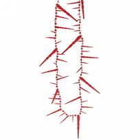 Бусы на ёлку красные 2м ″Сосульки″ 6см купить оптом и в розницу