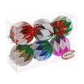 Новогодние шары ″Фантазия″ 8см (набор 6шт.) купить оптом и в розницу