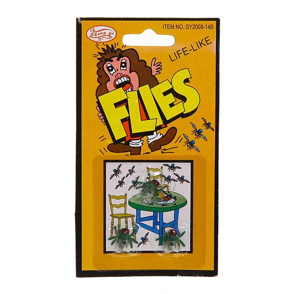 Прикол ″Три мухи″ на блистере 147-5 купить оптом и в розницу