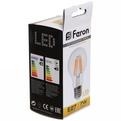 Лампа светодиод.филамент ШАР 7Вт E27 2700K A60 белый теплый LB-57 Feron купить оптом и в розницу