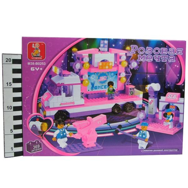 Констр-р 38-0253МВ Розовая мечта в кор. 369 дет. Акция1 купить оптом и в розницу