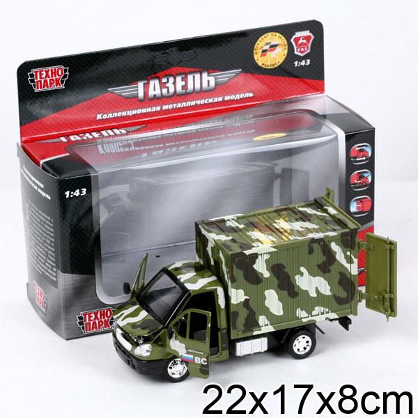 Модель GAZKUNG12-R Технопарк метал. Военная Газель купить оптом и в розницу