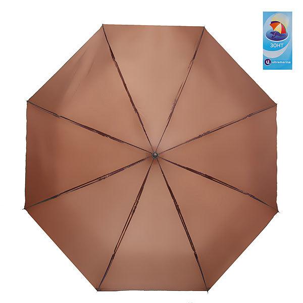 Зонт мужской механический ″Классика″ цвет коричневый, 8 спиц, d-98см, длина в слож. виде 23см купить оптом и в розницу