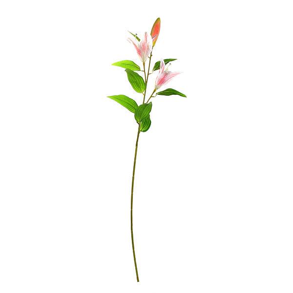 Цветок искусственный 95см декоративный Лилия 2 цветка 1 бутон купить оптом и в розницу