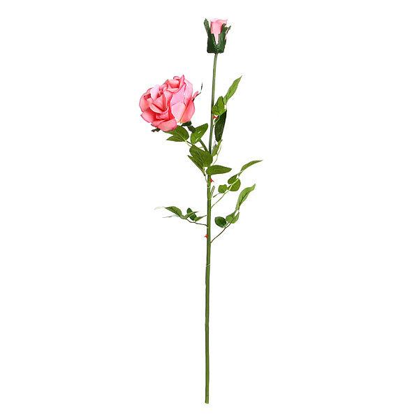 Цветок искусственный 80см декоративный Роза 1 цветок 1 бутон купить оптом и в розницу
