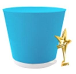 Горшок для цветов Крит D 160 mm с системой прикорневого полива 1,8л светло-сини*16 купить оптом и в розницу