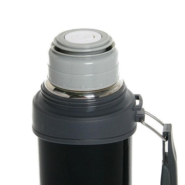Термос с металлической колбой 1200 мл ″Серп и молот″ черный купить оптом и в розницу