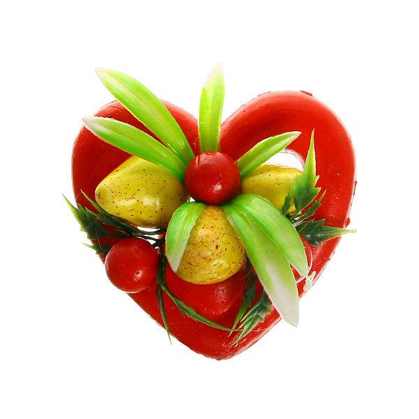 Магнит ″Сердечко фруктовое″ 9см купить оптом и в розницу