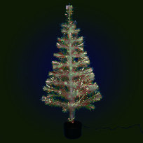 Елка светодиодная 120 см белая оптоволокно купить оптом и в розницу