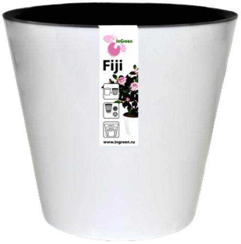 Горшок для цветов Фиджи D 230 мм/5 л белый*15 купить оптом и в розницу