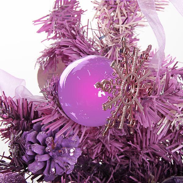 Елка искусственная 50 см с украшениями фиолетовый купить оптом и в розницу
